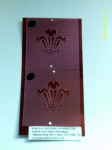 2 x Welsh Three Feather face painting stencils 6 Nations rugby reusable many times  Internationals Wales football